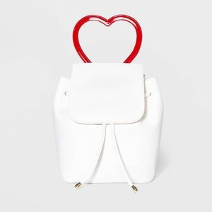 Mini Flap Backpack with Heart Handle - Wild Fable